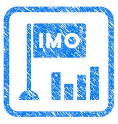 Imo bar chart framed grunge icon vector