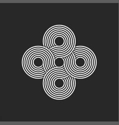 Infinity logo endless geometric symmetrical vector