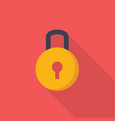 lock icon set of great flat icons with style vector image
