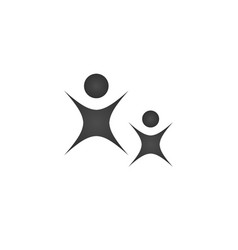 Logo of adult and child two people fun three vector