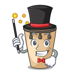 Magician conga mascot cartoon style vector