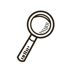 Magnifier glass zoom find search image vector