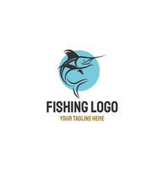marlin fish logo designs inspirations vector image