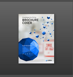 Medical brochure cover template flyer design vector