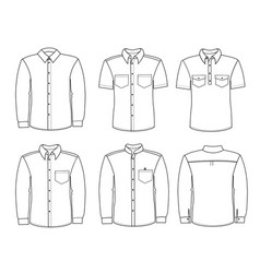 men shirts men fashion clothes isolated on white vector image