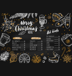 Merry christmas festive winter menu vector