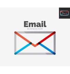 Minimal line design logo email icon vector