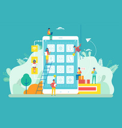 monile phone application developers smartphone vector image