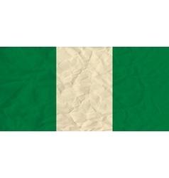 Nigeria paper flag vector image