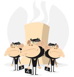 Nuclear lobby- men in black vector