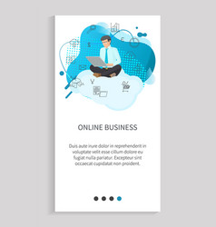 online business employee using laptop vector image