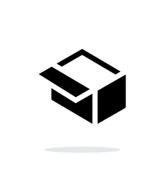 Open box simple icon on white background vector