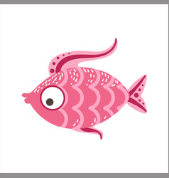 pink scaled fantastic colorful aquarium fish vector image