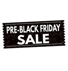 Pre black friday sale label or sticker vector
