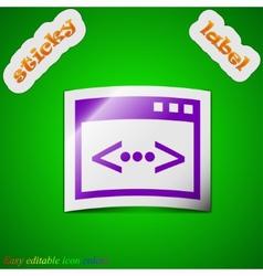 Programming code icon sign Symbol chic colored vector