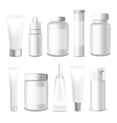 Realistic Tubes and Jar vector