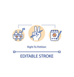 Right to petition concept icon vector