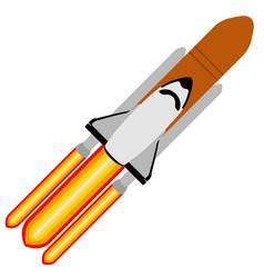 rocket taking off vector image