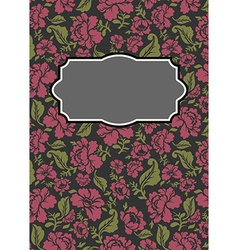 Roses floral card Frame template to text b vector image