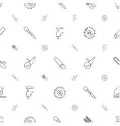 saw icons pattern seamless white background vector image