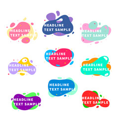 set nine bright trendy modern graphic liquid vector image
