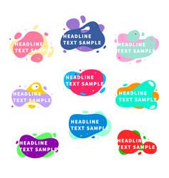 set nine bright trendy modern graphic liquid vector image