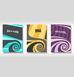 set of colorful covers vector image