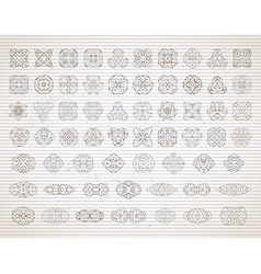 set of vintage design elements and page vector image