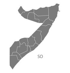 Somalia regions map grey vector