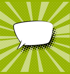 speech bubble on green retro background vector image