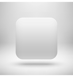 Technology White Blank App Icon Template vector image
