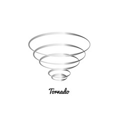tornado wind line icon on white background vector image