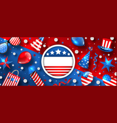 usa background for american holidays with vector image