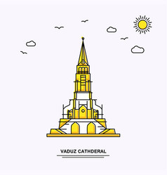 Vaduz cathderal monument poster template world vector