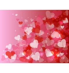 Valentine day love heart shape bokeh sparkle vector