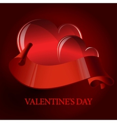 Valentines day or Wedding background with heart vector image