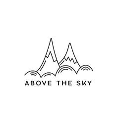 vintage simple mountains logo design outdoor vector image