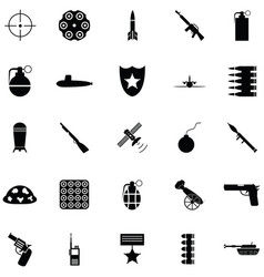 war icon set vector image