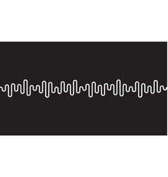 White curvy line on black background radio wave vector
