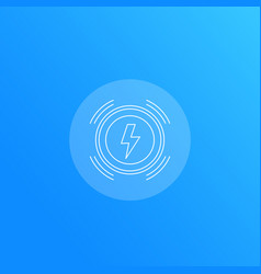 Wireless charger line icon vector