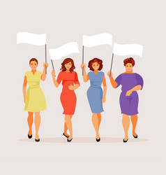 women with posters vector image