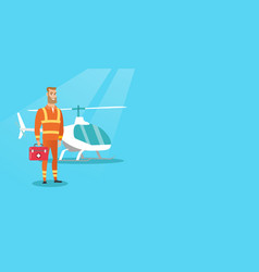Doctor of air ambulance vector