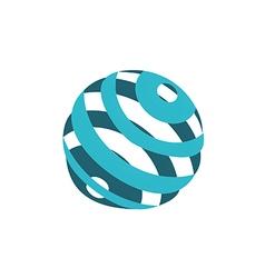 globe sphere orbit communication logo vector image