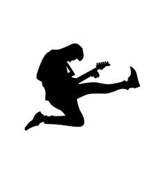 Guitarist silhouette black vector image vector image