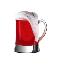 Mug of dark beer topped with foam vector image vector image