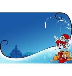 Snowman As Santa Claus vector image vector image