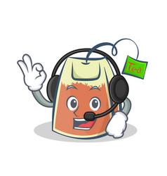 Tea bag character cartoon art with vector