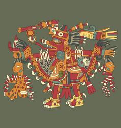 aztec gods vector image