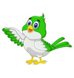 Cute bird cartoon posing vector image vector image