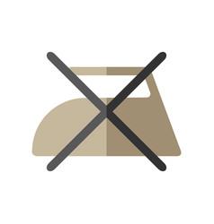 do not iron flat icon of washing symbols care of vector image